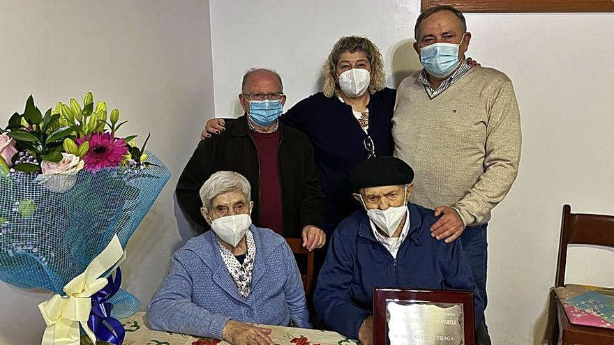 El hombre de más de edad de A Laracha cumple 101 años