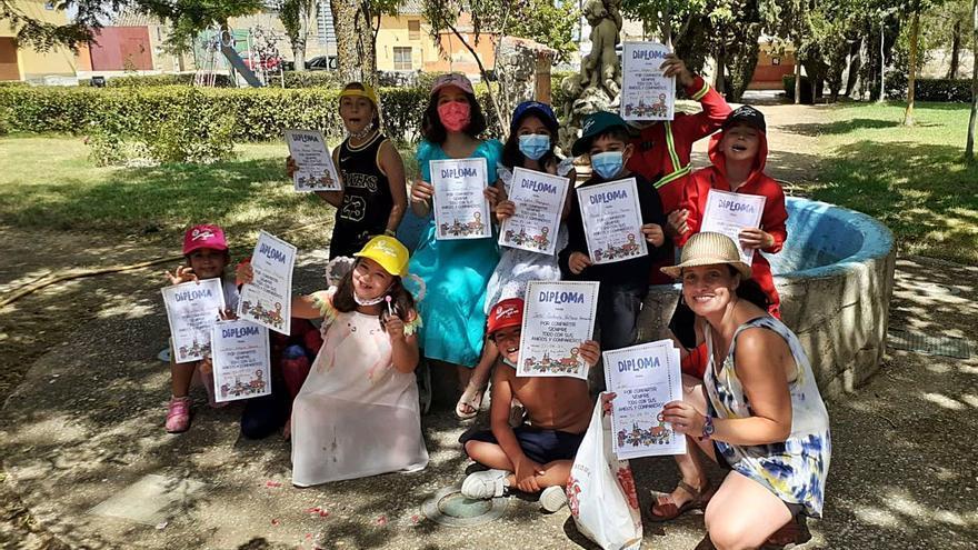 Talleres, juegos y manualidades: el ocio para niños se reactiva en Villavendimio