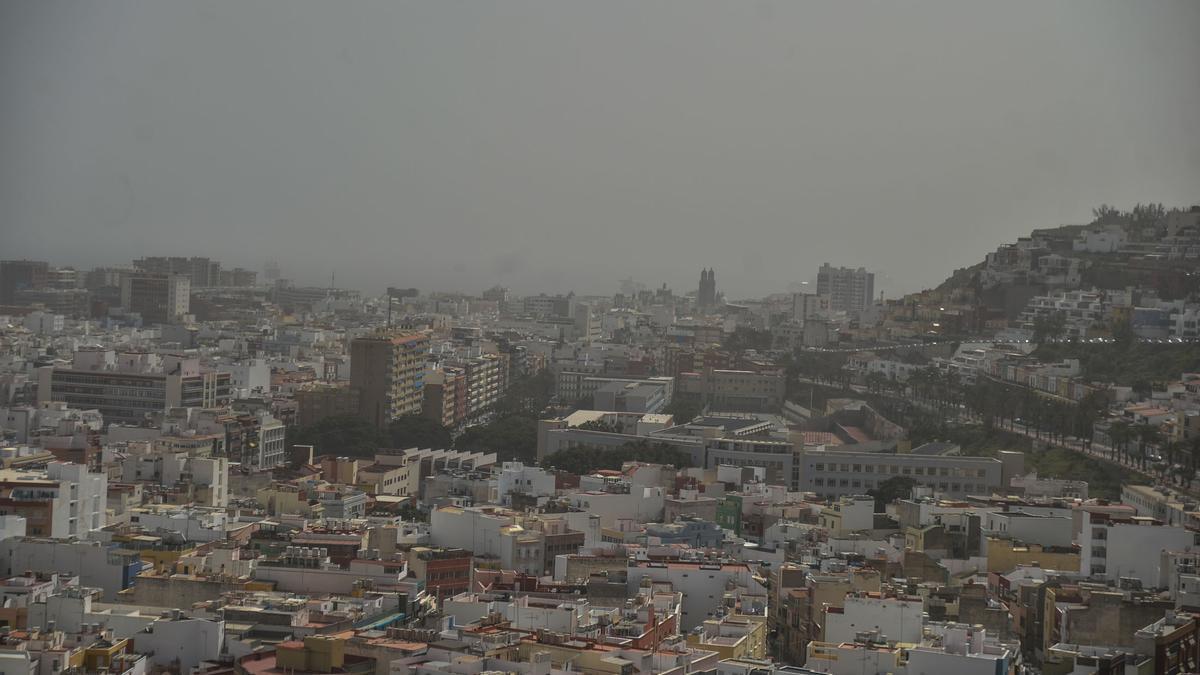 Calima en Gran Canaria (17/02/2021)