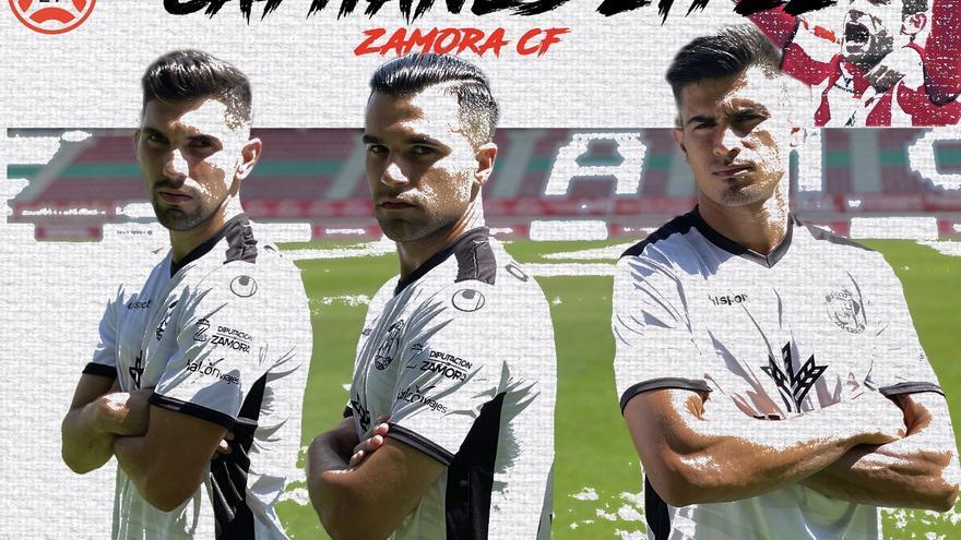 Dani Hernández, Carlos Ramos y Xisco Campos, capitanes del Zamora CF