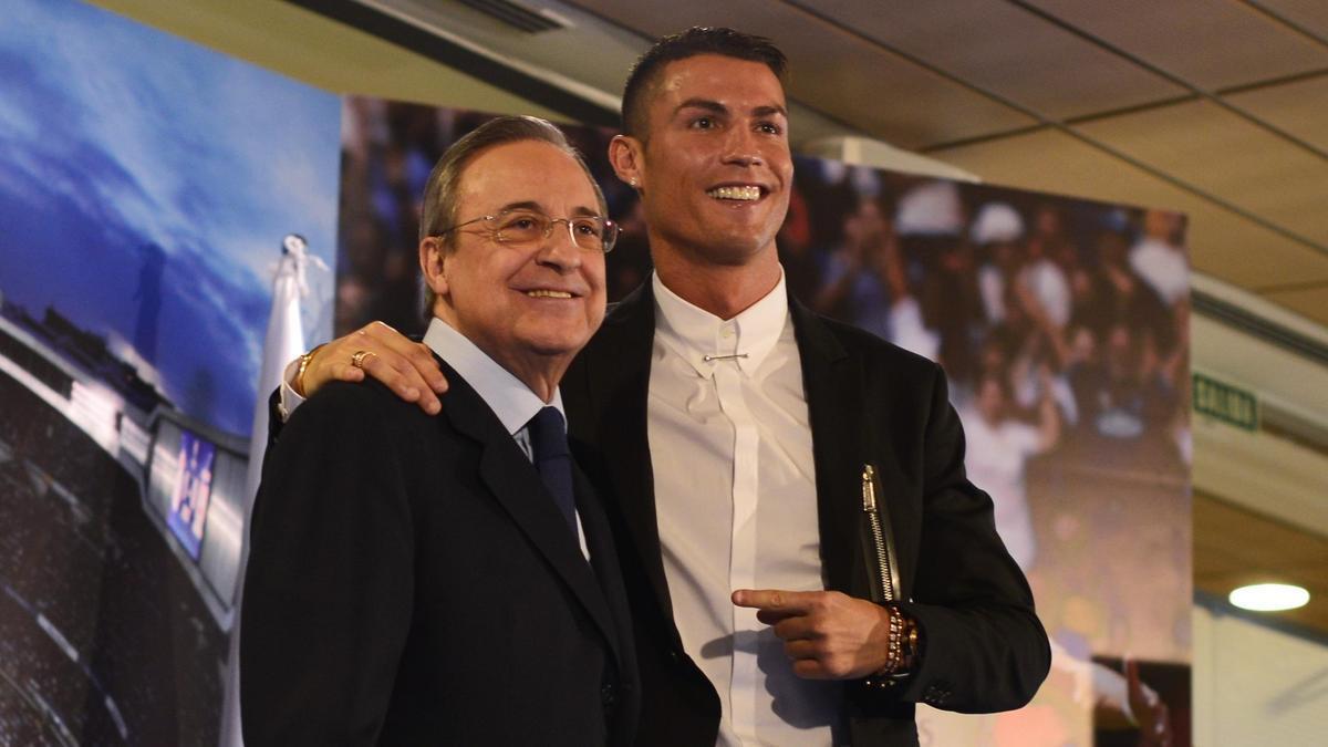 Florentino Perez y Cristiano Ronaldo.