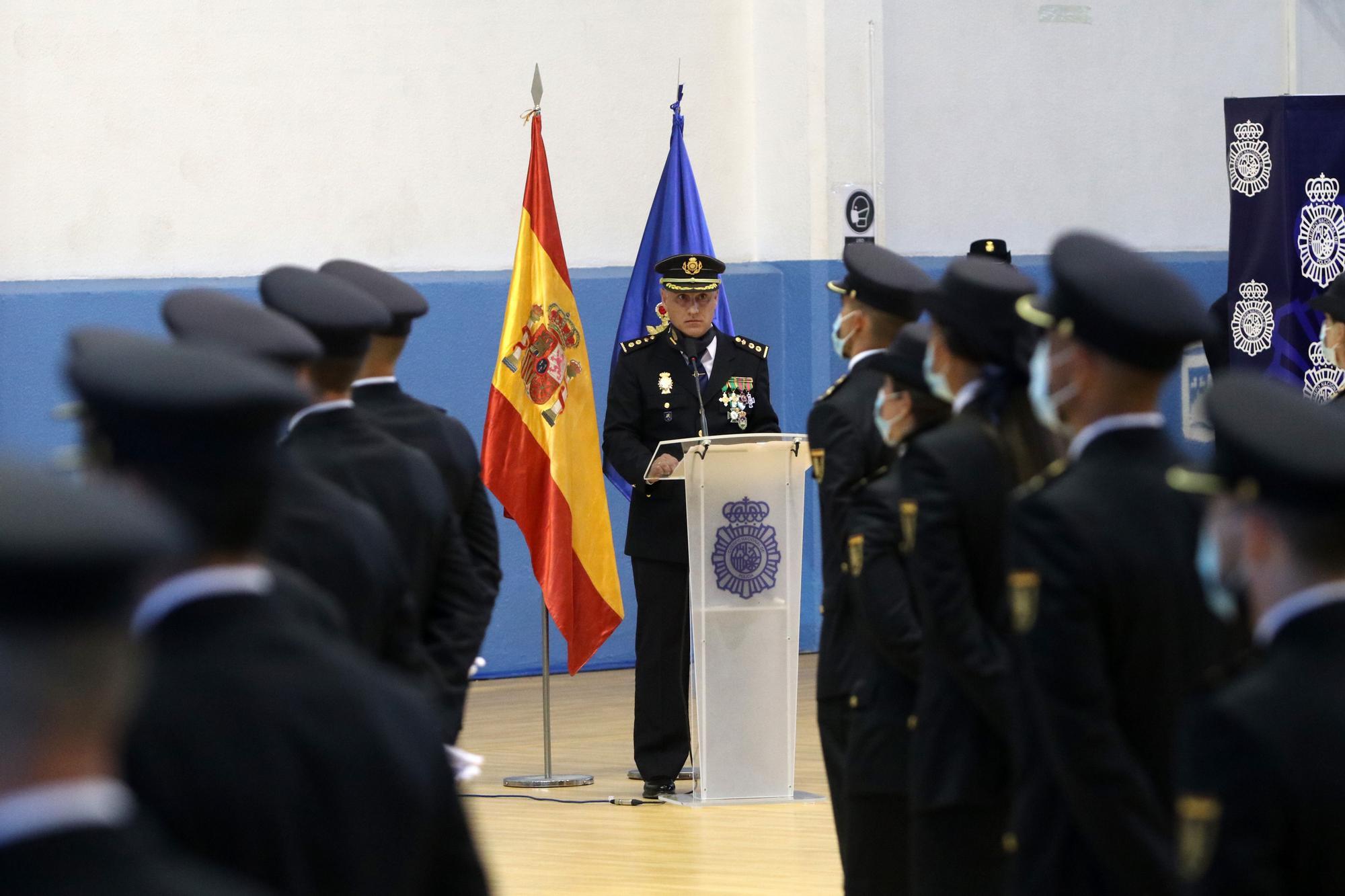 Presentación de 205 nuevos agentes de la Policía Nacional en Málaga