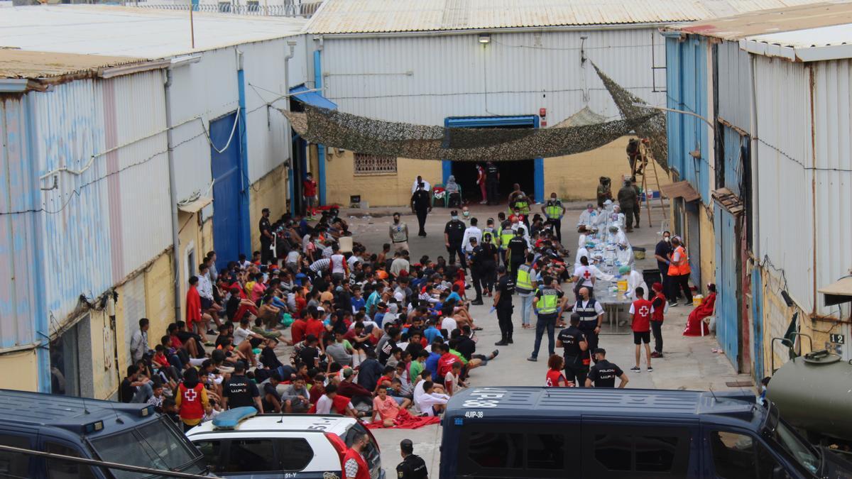 Decenas de menores en Ceuta.