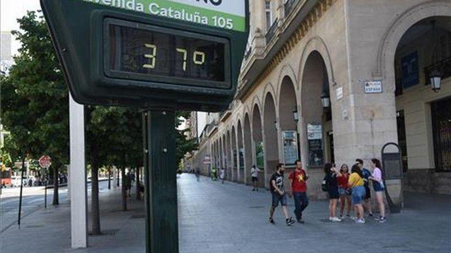 Alerta amarilla por calor en buena parte de Aragón