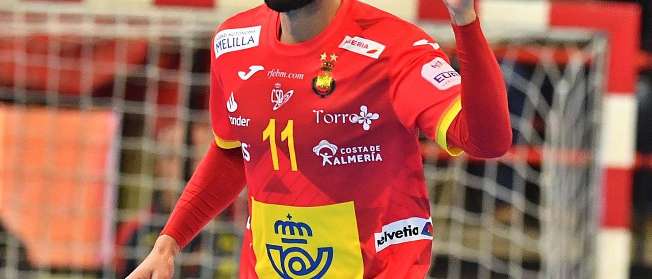 Dani Sarmiento celebra un gol con la camiseta de España durante el pasado 2020. | | J.L. RECIO