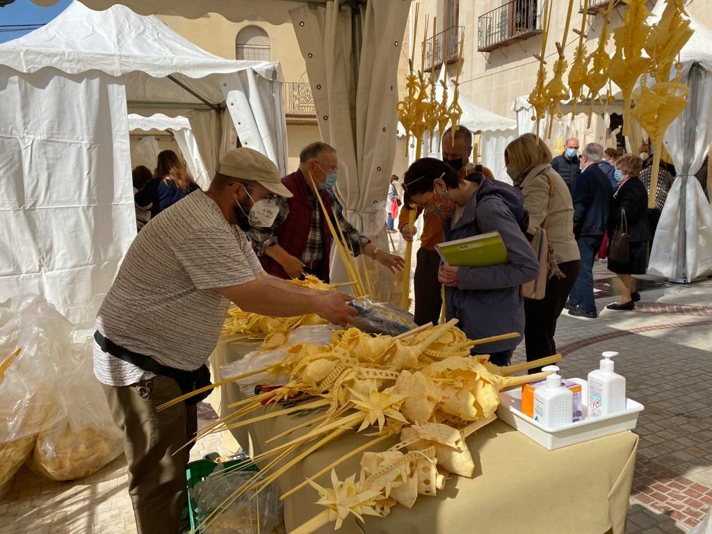 Este es el ambiente en el mercado de la Palma Blanca