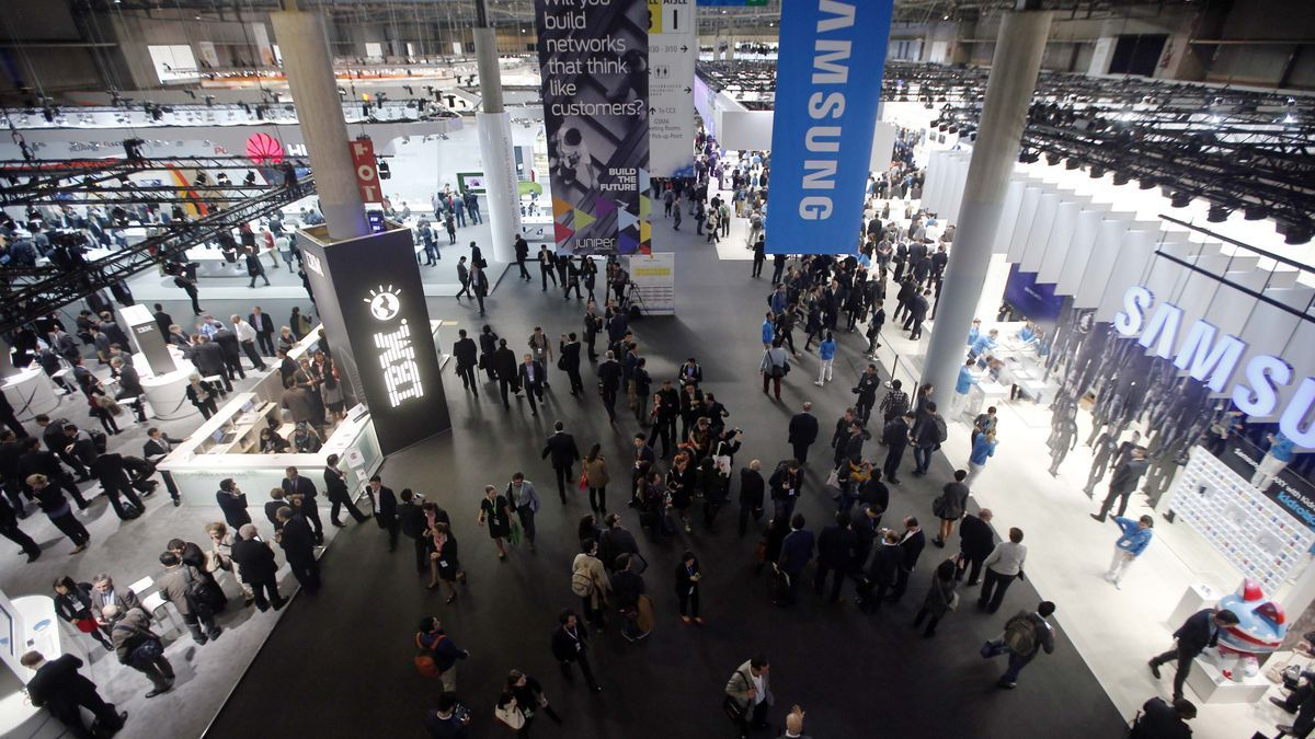 Visitantes en una edición anterior del Mobile World Congress