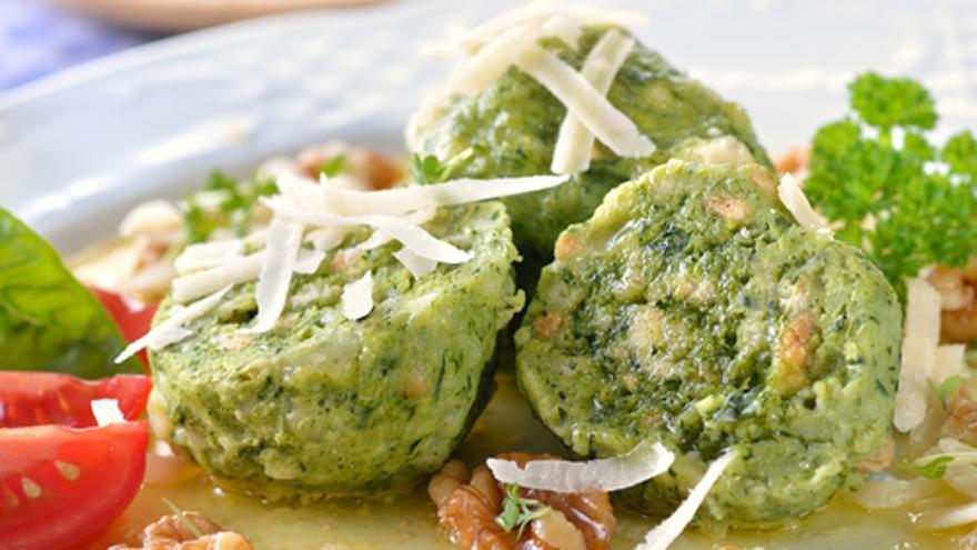 Espinacas en albondigas