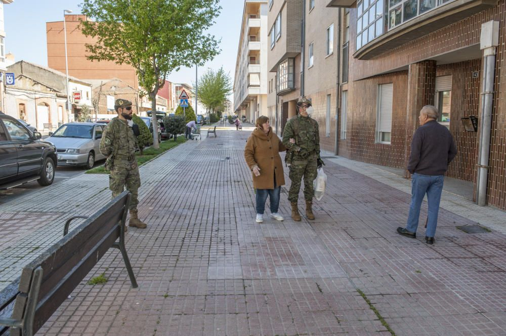 El Ejército de Tierra patrulla en Benavente