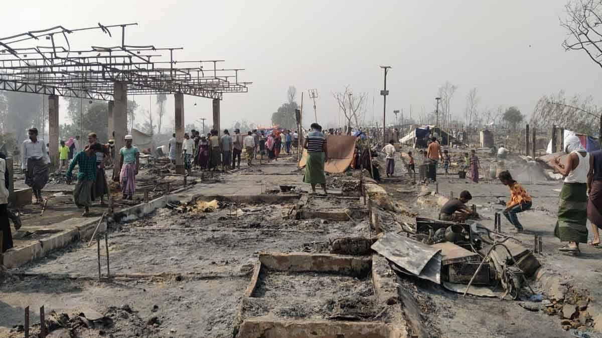 Devastación en el campo rohinyá de Cox's Bazar