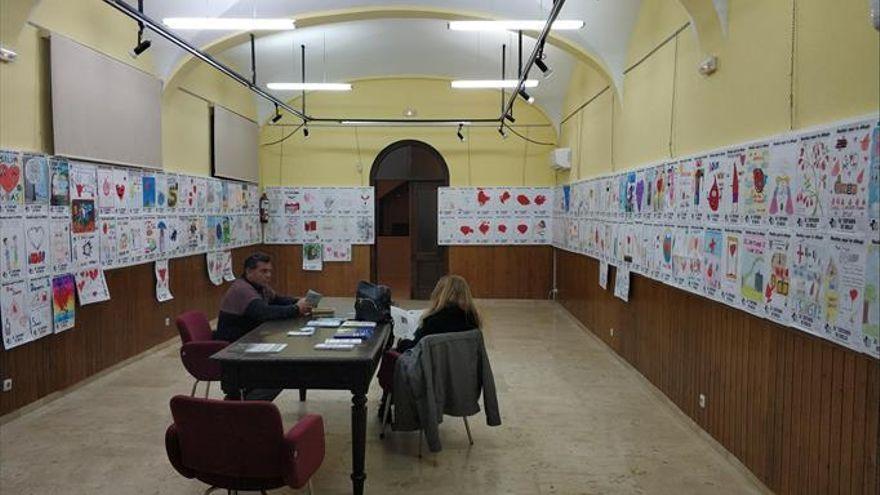 Los dibujos alusivos a la donación de sangre se exponen del 27 al 30