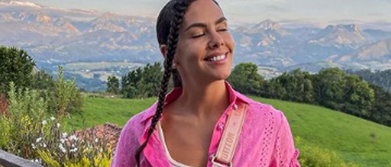 Cristina Pedroche, durante su estancia en Asturias.