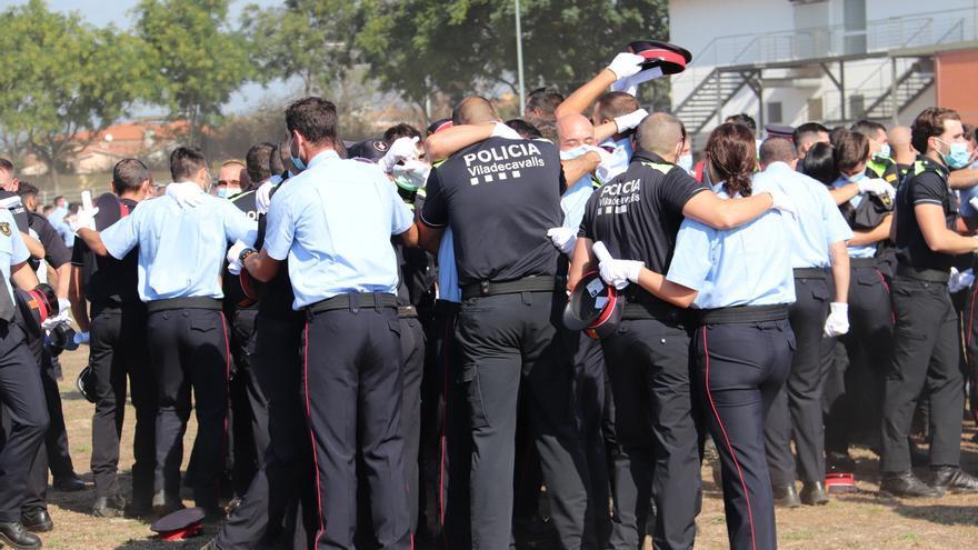 Aragonès diu el 30% de dones a la promoció de policia va «pel bon camí»