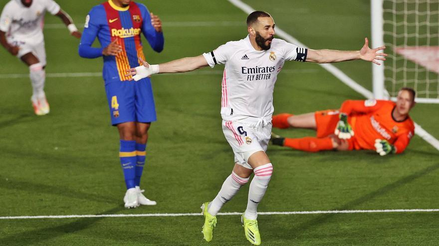 """El Real Madrid gana el """"clásico"""" a la carrera"""
