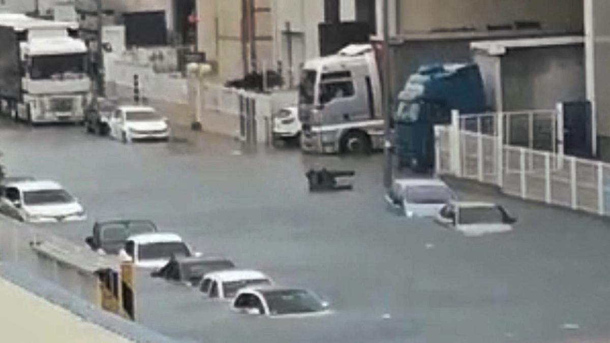 Estado en que quedó una de las calles del polígono tras las lluvias torrenciales que cayeron el 5 de noviembre de 2020. | LEVANTE-EMV
