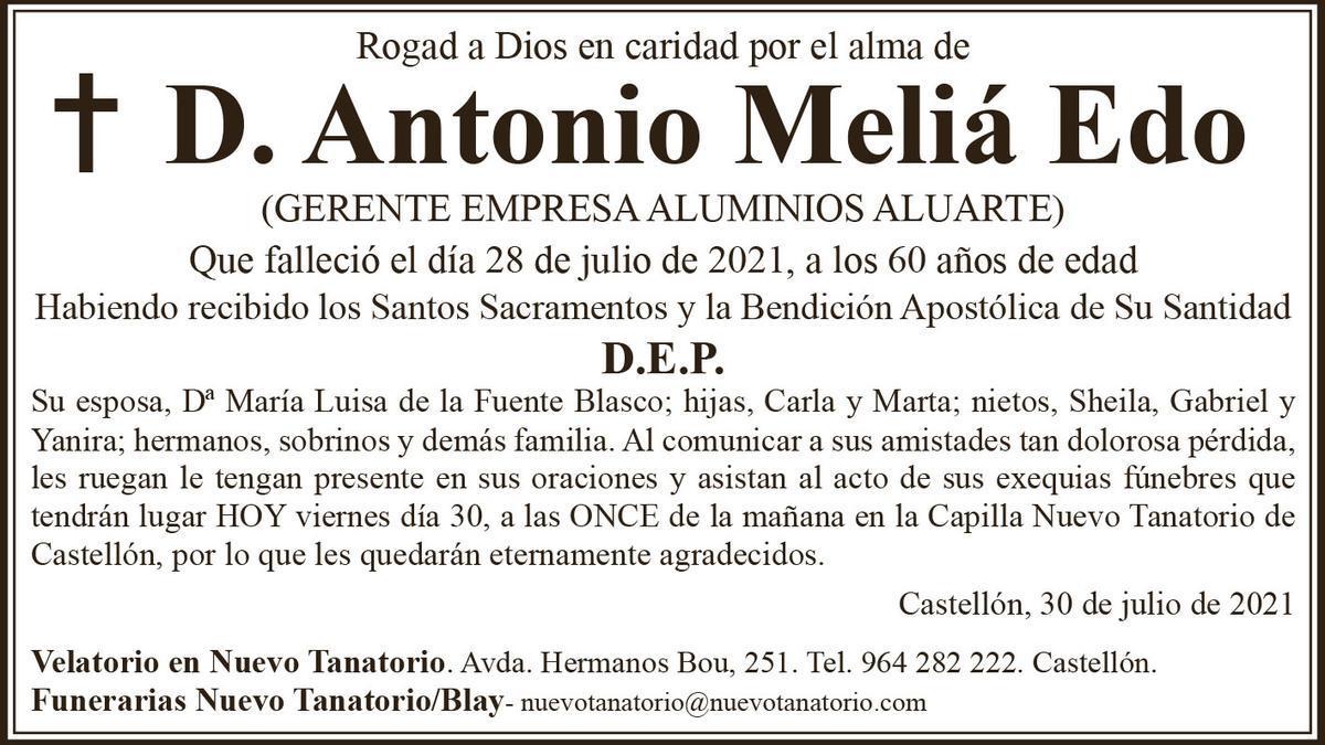 D. Antonio Meliá Edo