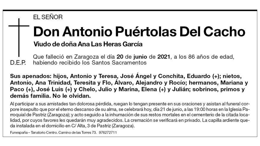 Antonio Puértolas Del Cacho