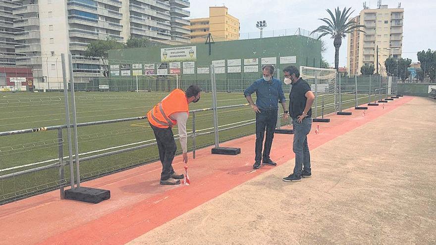 Arranca la obra del campo de fútbol de Orpesa que acabará en 10 meses