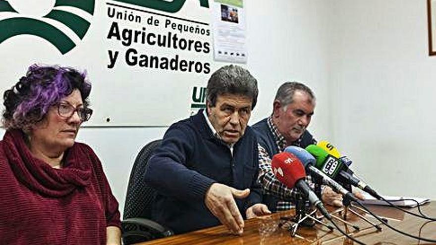Maruja Marcos, Pedro Fernández y Aurelio González, ayer en la rueda de prensa.