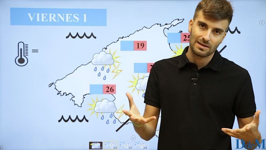 El tiempo del fin de semana en Mallorca: Posibilidad de lluvias localmente fuertes el viernes por la tarde