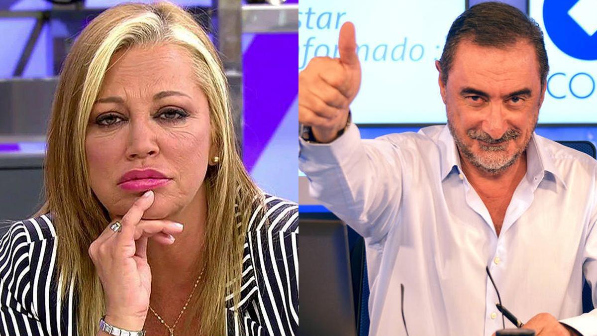 Una imagen de Belén Esteban y Carlos herrera.
