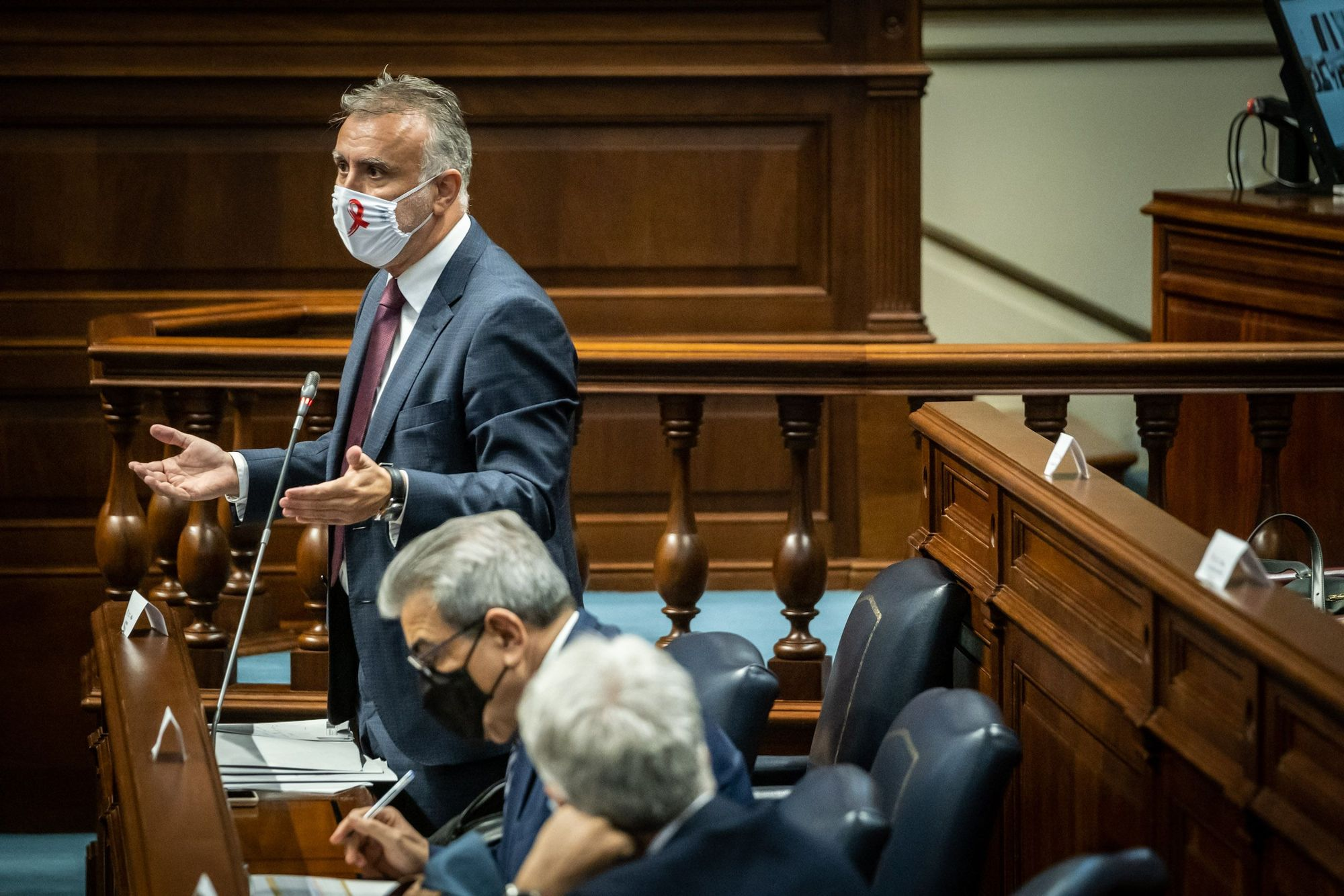 Pleno del Parlamento de Canarias celebrado el 1 de diciembre de 2020