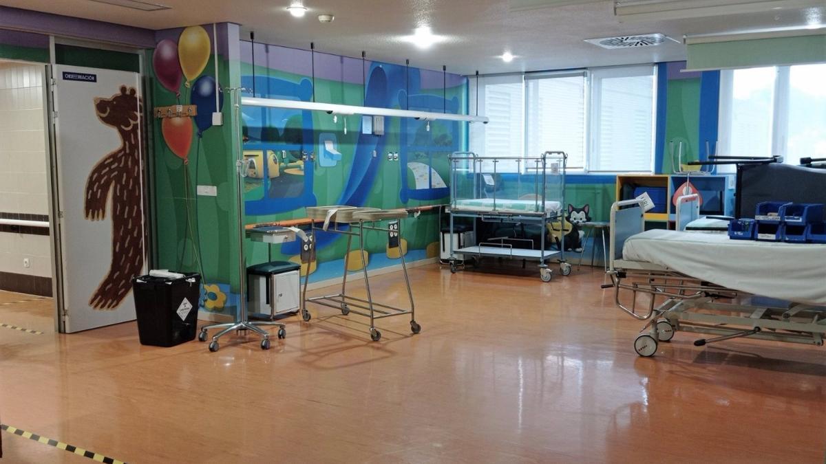 Sala de observación del Hospital Infantil
