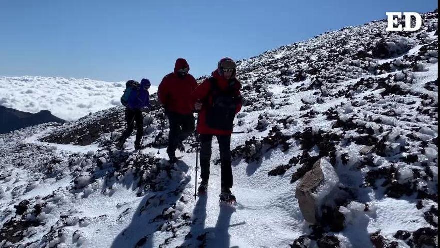 Un día en el Teide nevado