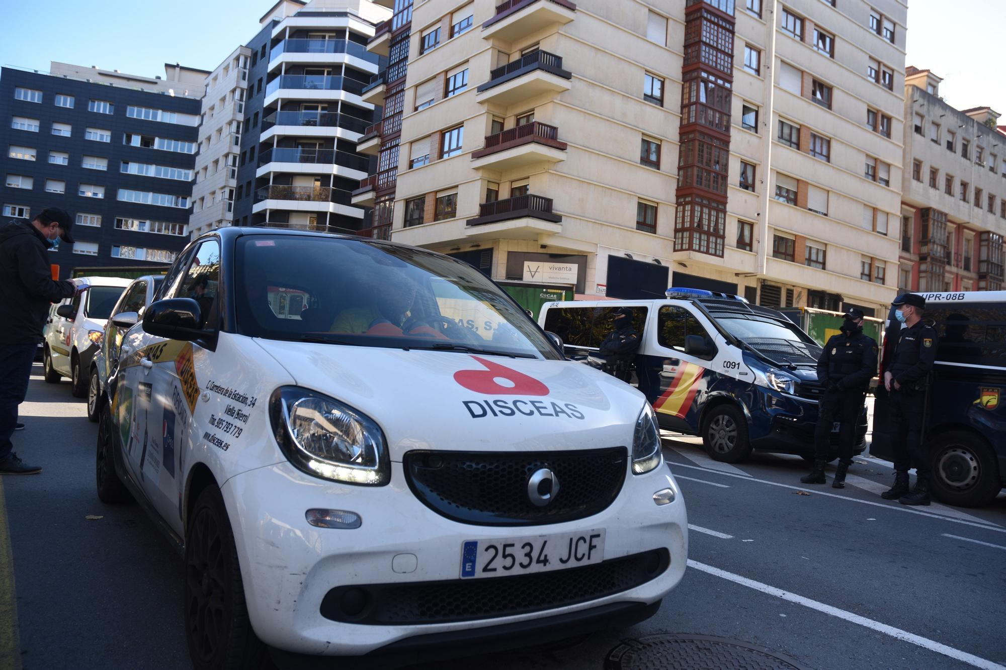 Manifestación de la hostelería en Gijón