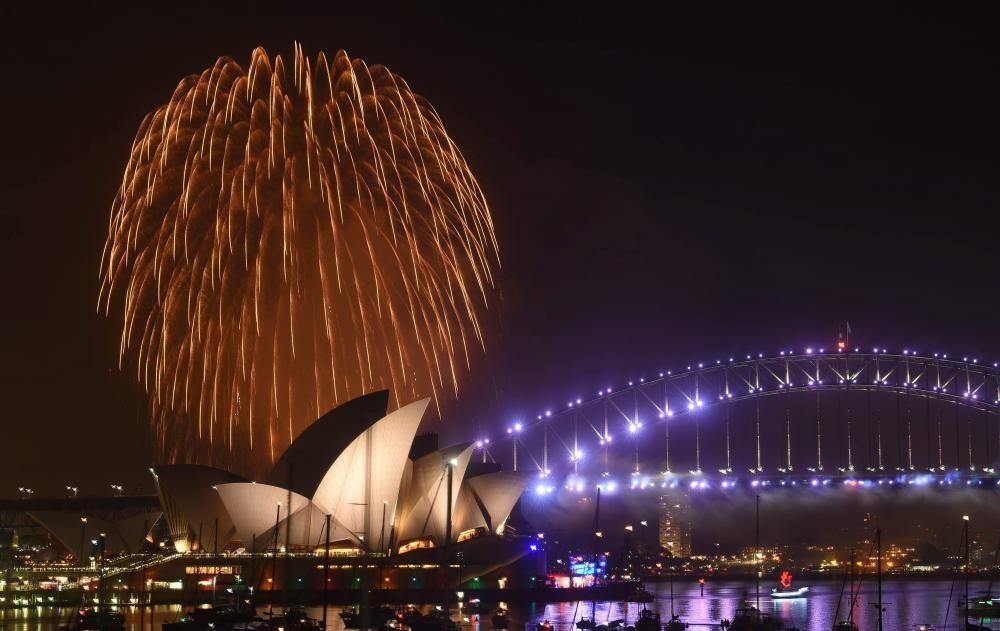 Celebración de Fin de Año en Sydney, Australia.