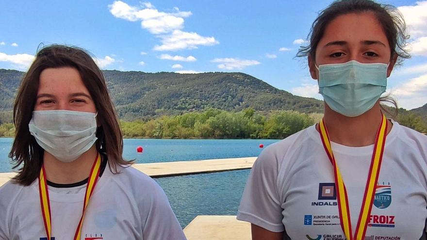El piragüismo arousano regresa con seis medallas del Campeonato de España de jóvenes promesas
