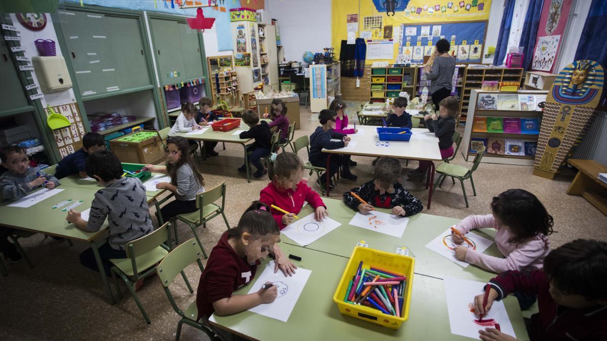 Un aula de infantil