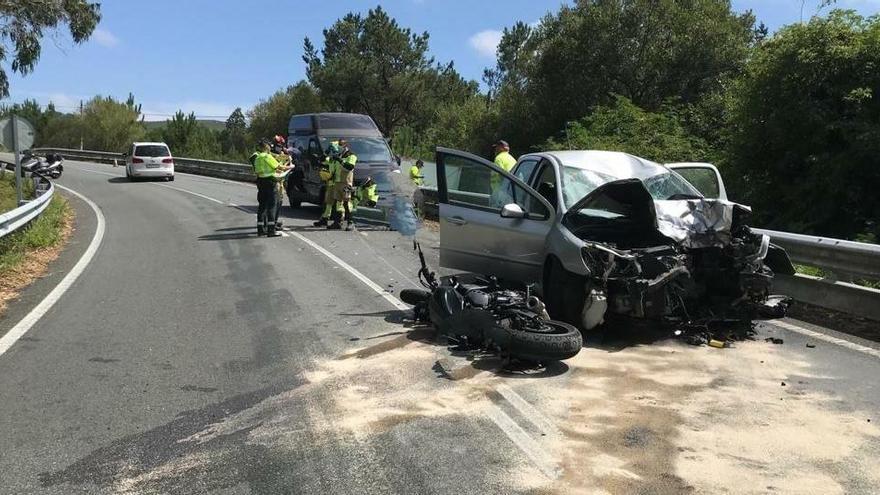 Muere un motociclista de 27 años en un choque con un turismo en A Coruña