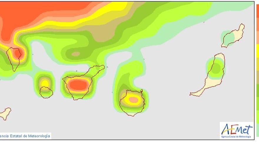 Alerta por vientos de hasta 120 kilómetros por hora en Tenerife y La Palma