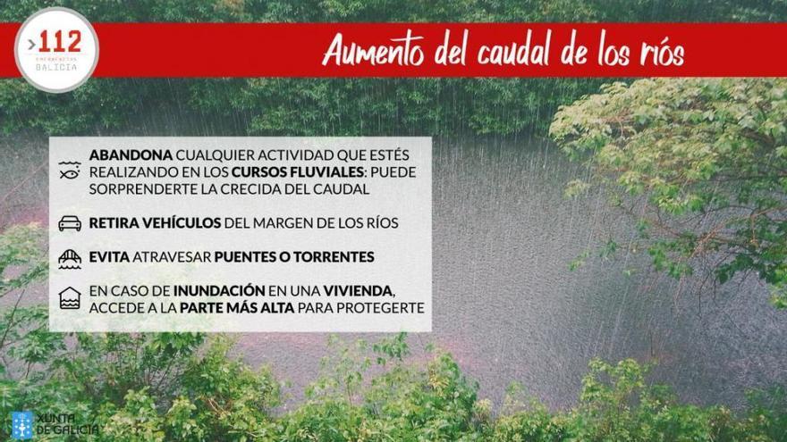 El 112 alerta del riesgo de desbordamiento en trece ríos gallegos