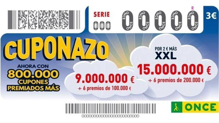 El Cuponazo de la ONCE reparte casi diez millones de euros en Canarias
