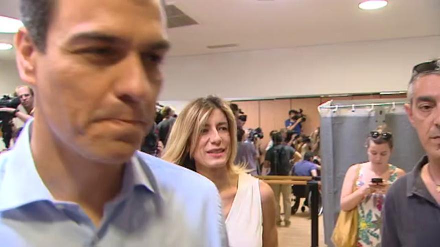 Vídeo | Así ha votado Pedro Sánchez