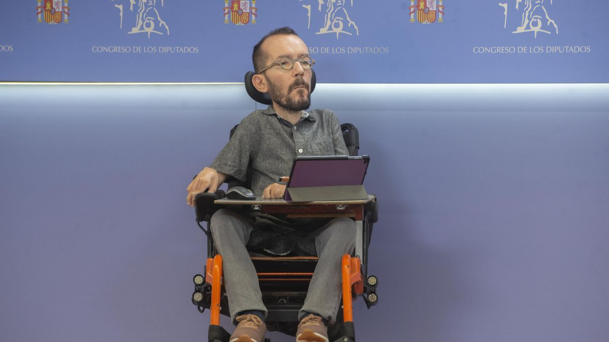 Archivo - El portavoz de Unidas Podemos en el Congreso, Pablo Echenique.