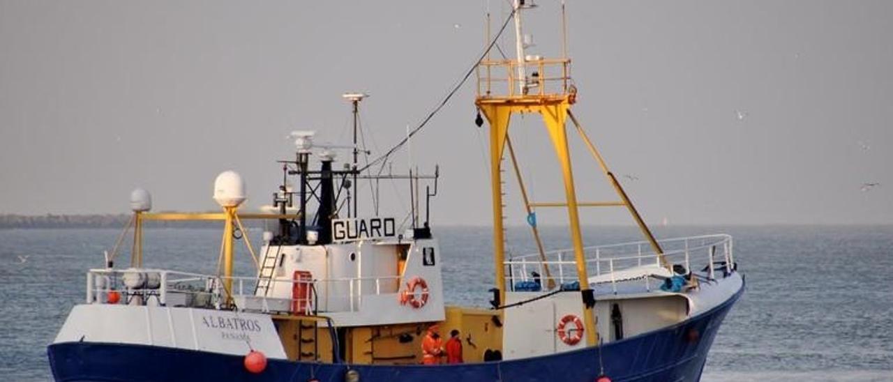 El barco 'Albatros', interceptado por Vigilancia Aduanera con hachís en su interior.
