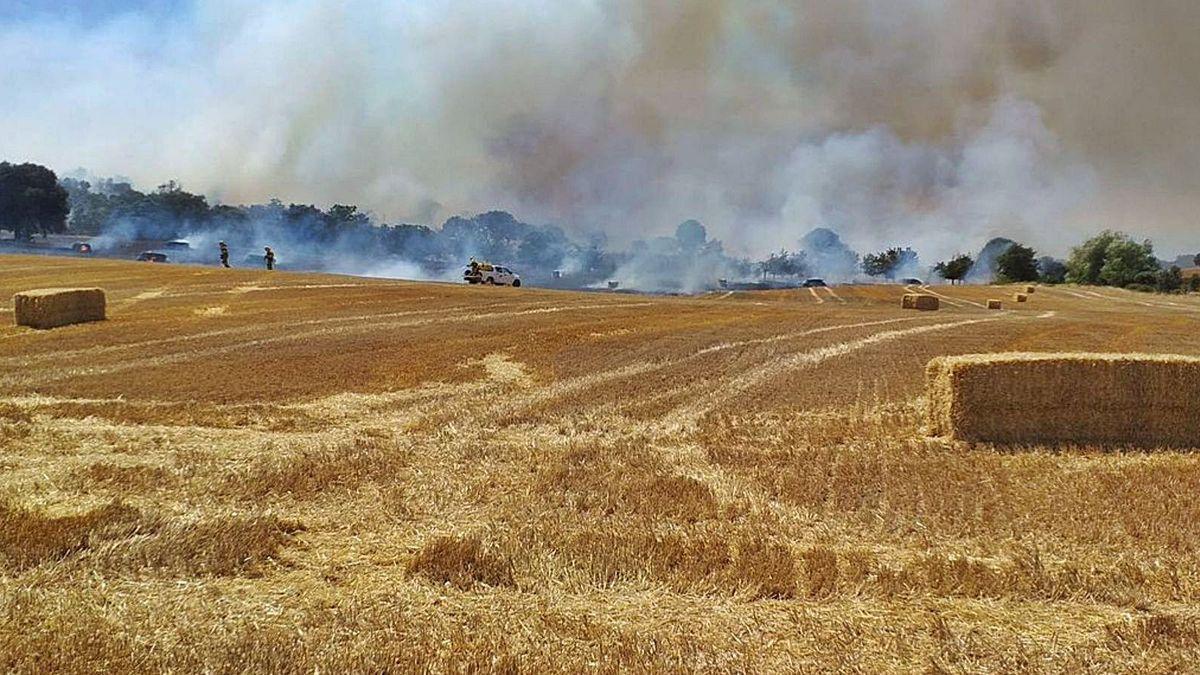Incendio en Navianos en las últimas horas.