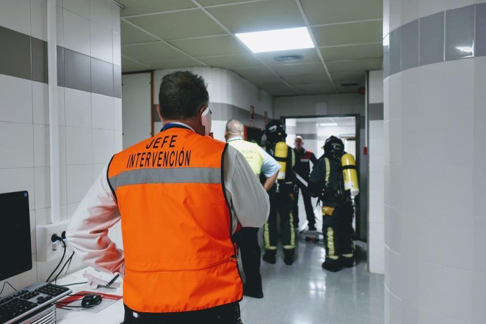 Simulacro de incendio en el Hospital La Candelaria