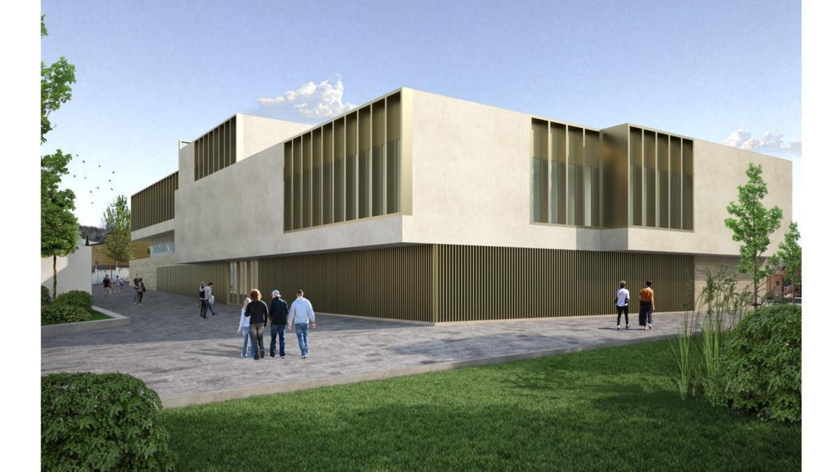 Recreacion virtual de la sede judicial de Lucena.
