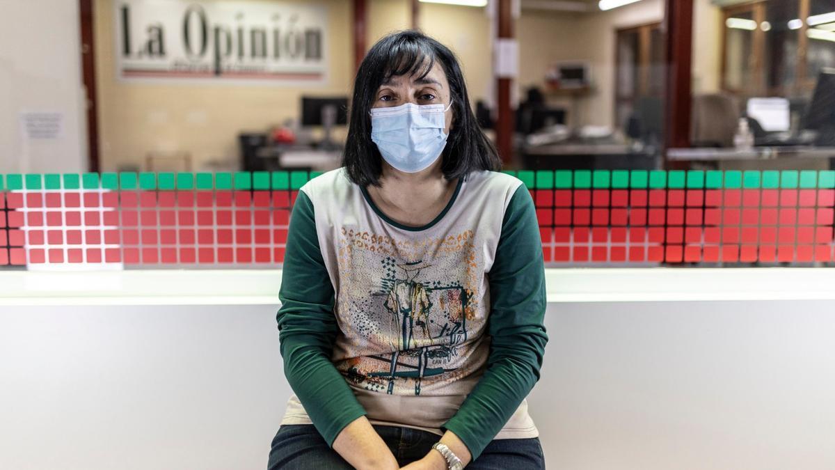 La enfermera zamorana Montserrat Juan