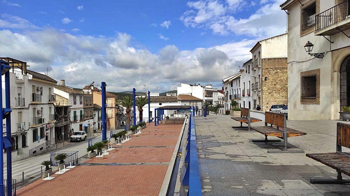 Una vista de una calle de Castro del Río.