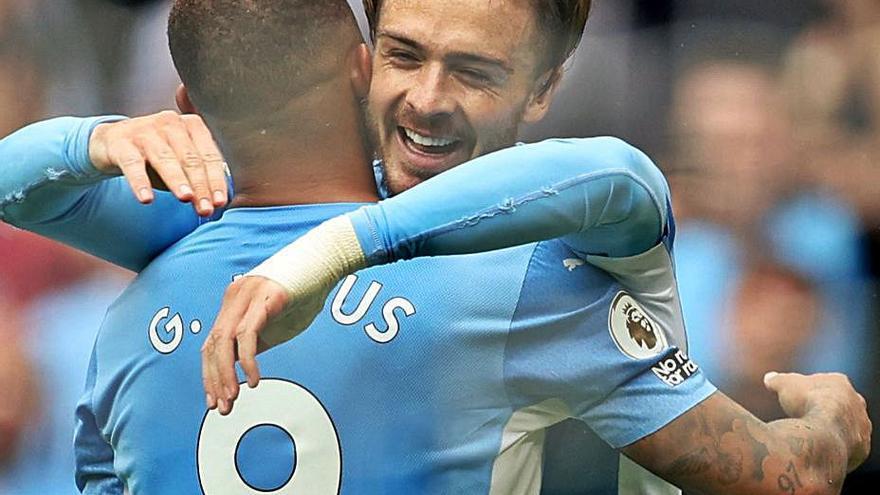 El Manchester City arrolla al Norwich y Grealish se estrena