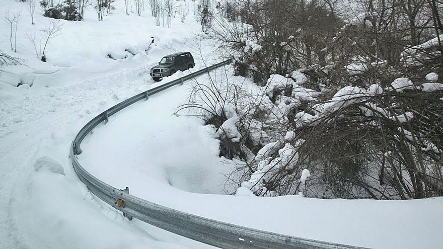 El temporal de nieve deja una factura de daños en Asturias de 2,8 millones de euros