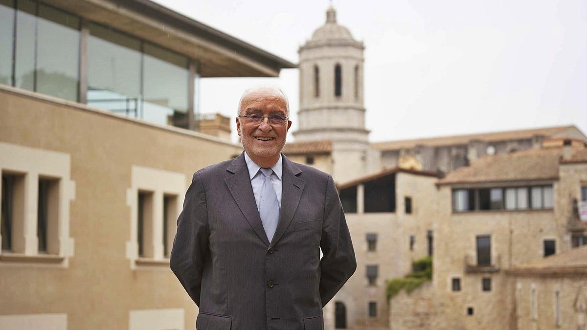 Casasús, al campus Barri Vell de la Universitat de Girona.  | MARC MARTÍ
