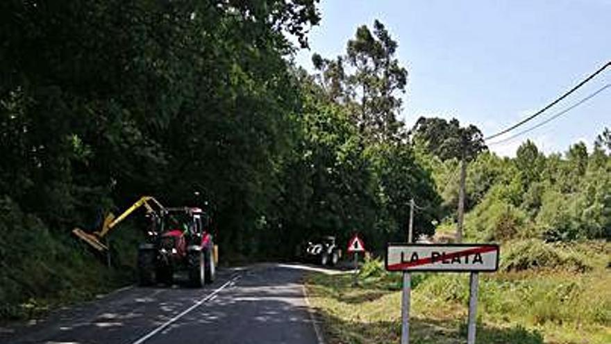Los vecinos de La Plata aplauden la limpieza de las márgenes de un vial autonómico