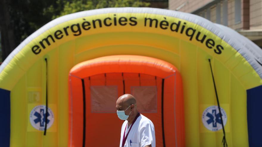 Un sanitario, en Lleida