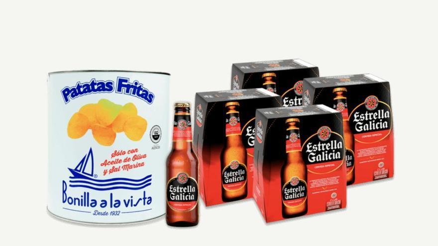 Bonilla a la Vista y Estrella Galicia lanzan el pack 'Beer & Chips'